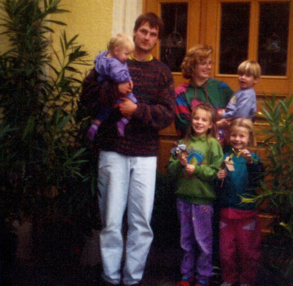 Familie Mondel vor 25 Jahren!